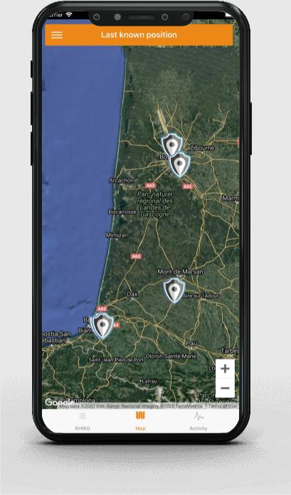 L'application GPS de KHIKO pour suivre les déplacements en cas de vol